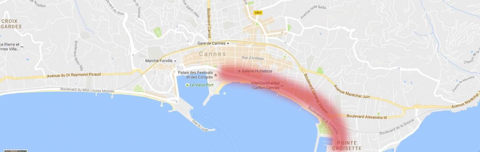 Croisette location
